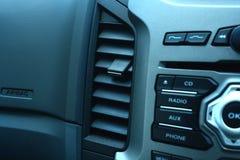 La posición del aire del coche Fotografía de archivo