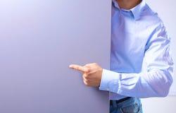 La position d'homme d'affaires montre la bannière image libre de droits