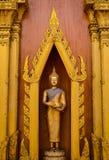 La posizione di camminata di Buddha in Tailandia fotografia stock