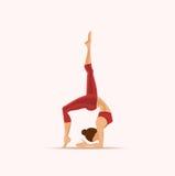 La posizione di yoga? si distende appena Illustrazione di vettore Royalty Illustrazione gratis
