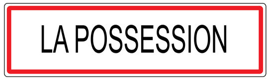 La Possession city traffic sign illustration in France Stock Photography