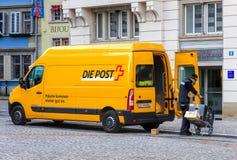 La posta dello svizzero sparte la consegna Fotografie Stock Libere da Diritti