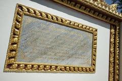 La posta di breve storia di Wat Phra Chao Nang Din in PR di Phayao immagini stock