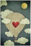 La postal de Valantine stock de ilustración