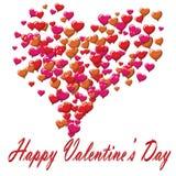 La postal del día de tarjetas del día de San Valentín hincha el fondo blanco Imagenes de archivo