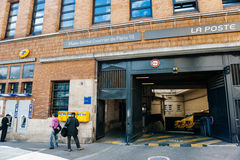 La Poste branch and parcel shipping platform entrance in the hea Stock Photography