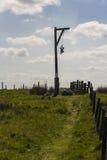 La potence, Elsdon, le Northumberland, Angleterre, R-U photos stock
