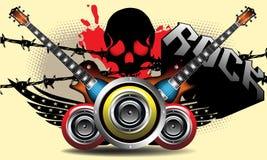 La potencia de la música rock ilustración del vector