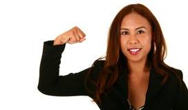 La potencia de la mujer de negocios Imagen de archivo