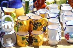 La poterie handcraft la cuvette de choc de méditerranéen photo libre de droits