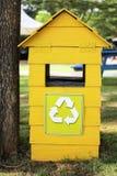La poubelle de réutilisation Image stock