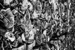 La poubelle soit réutilisée image libre de droits