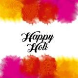 La poudre gulal de couleur heureuse de holi éclabousse Photos libres de droits