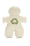 La poupée fictive avec réutilisent le symbole Image stock