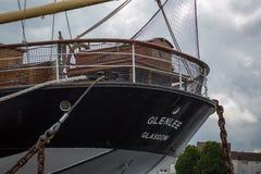 La poupe du bateau de navigation Glenlee chez Clyde Quayside July 2017 image stock