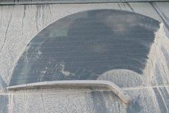 La poussière à la glace du véhicule 4x4 Photo stock