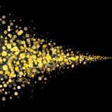 La poussière éclatante de queue d'étoiles d'or Image libre de droits