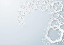La poussière blanche d'hexagones illustration libre de droits