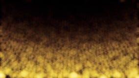 La poussière brouillée d'or de scintillement de résumé coulant de haut en bas Petites particules vagues jaunes brillantes se dépl illustration de vecteur