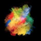 La poussière colorée Photos libres de droits