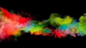 La poussière colorée image stock