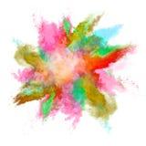 La poussière colorée Image libre de droits