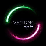 La poussière d'étoile éclatante lumineuse allume le cercle Illustration de Vecteur