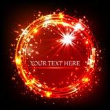 La poussière d'étoile de vecteur de scintillement et ligne brillantes cadre illustration de vecteur