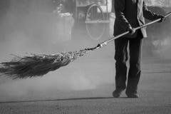 La poussière dans le vent. Image stock