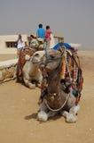 La poussière de désert de pyramides Image stock