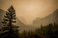 La poussière de point de vue de Yosemite du feu Image stock