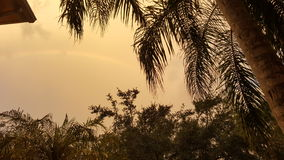 LA POUSSIÈRE DENSE DU SAHARA DE NUAGES Photo libre de droits