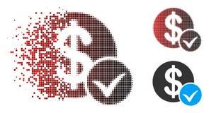 La poussière Dot Halftone Accept Payment Icon avec le visage Illustration Libre de Droits