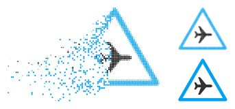 La poussière Dot Halftone Airplane Danger Icon illustration libre de droits