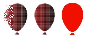 La poussière Dot Halftone Celebration Balloon Icon illustration de vecteur