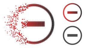 La poussière Dot Halftone Delete Icon illustration libre de droits