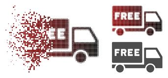 La poussière Dot Halftone Free Delivery Icon illustration de vecteur