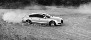 La poussière du véhicule A5 Images stock