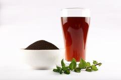 La poussière organique de thé Image stock