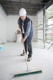 La poussière rapide de plancher photo stock