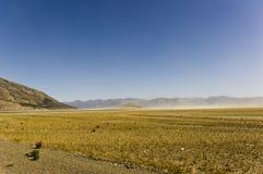 La poussière sur le lac Kluane Photographie stock