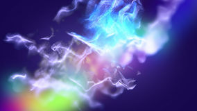 La poussière varicolored abstraite, illustration 3d Photo stock