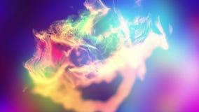 La poussière varicolored abstraite, illustration 3d Photos stock