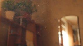La poussière volante dans le ciel Mouvement lent Plan rapproché Vidéo de Bokeh clips vidéos