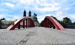 La Poznan-Pologne Ostrow Tumski - pont du ` s d'évêque Jordan Photo stock