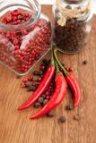 La préparation du poivre Photos stock