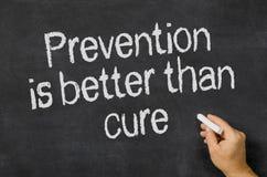 La prévention est meilleure que le traitement Photo stock