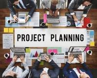 La prévision d'évaluation de planification de projets prévoient le concept de tâche images libres de droits
