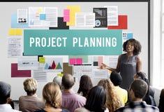 La prévision d'évaluation de planification de projets prévoient le concept de tâche images stock