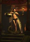 La prêtresse 3d CG. de serpent illustration de vecteur